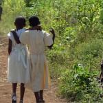 Girls Walking Home from Mass in Tanzania